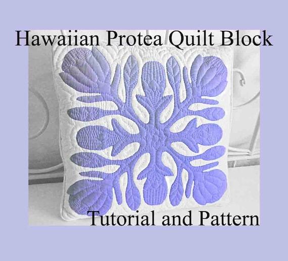 Hawaiian Protea Quilt Block Hawaiian Quilting Pattern And