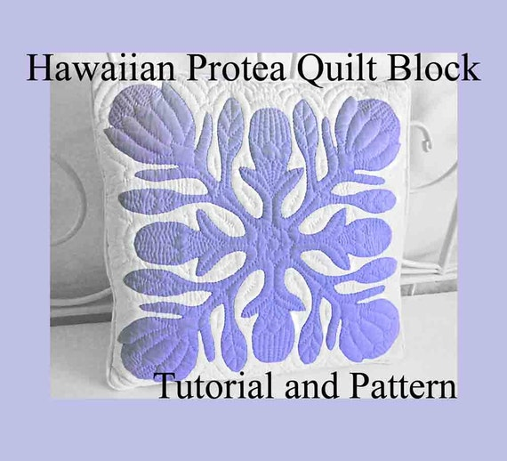 Hawaiian Protea Quilt Block Hawaiian Quilting Pattern And