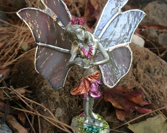 Stained glass angel, glass fairy,  fairy,stained glass angel  ,art deco fairy, glass home decor, home decoration, whimsical decoratio