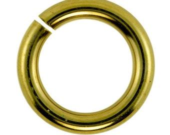 Jumplock Jump Rings 8.0mm Anti-Tarnish Brass (Pkg of 100)  (906BR-8.0)