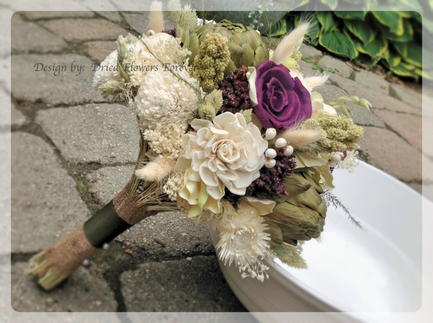 Purple woodland moss collection purple bridal bouquet zoom izmirmasajfo Gallery