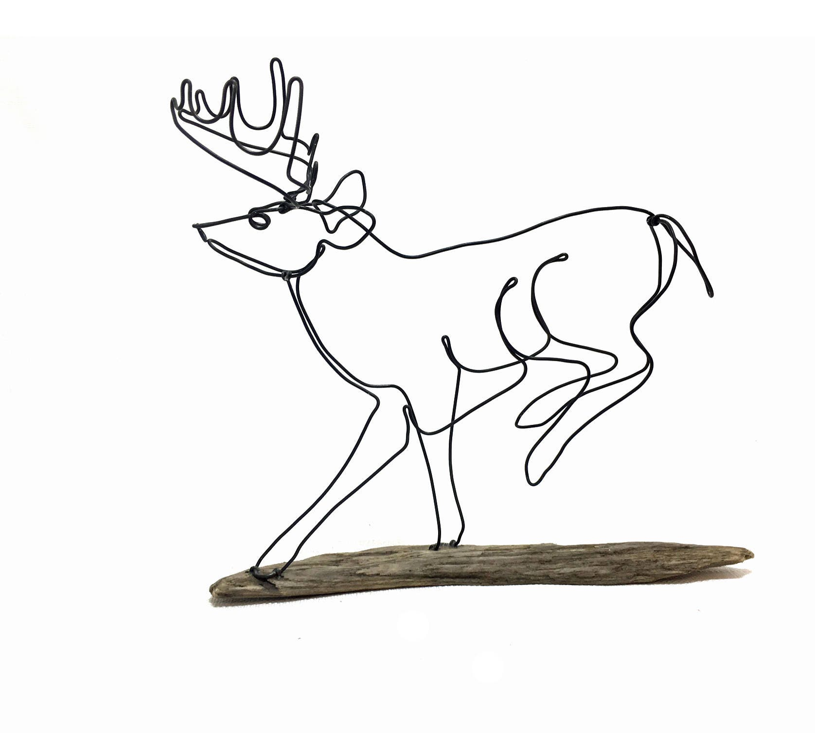 Läuft Hirsch Volkskunst 572026850 Buck Draht-Skulptur