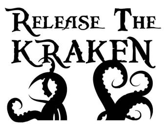 Release The Kraken Pirate Octopus Sea Monster Custom Stencil FAST FREE SHIPPING