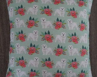 White Terrier Floral