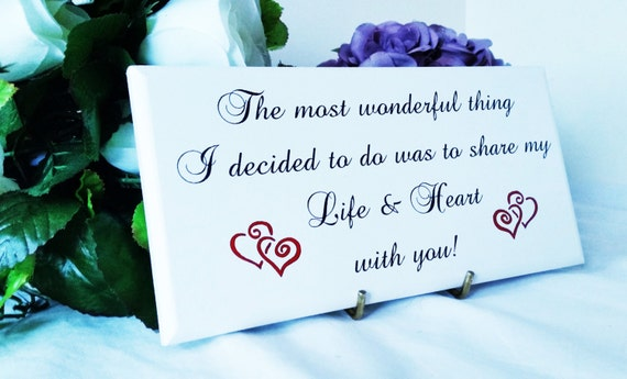 Wooden sign romantic quote sign anniversary gift engagement