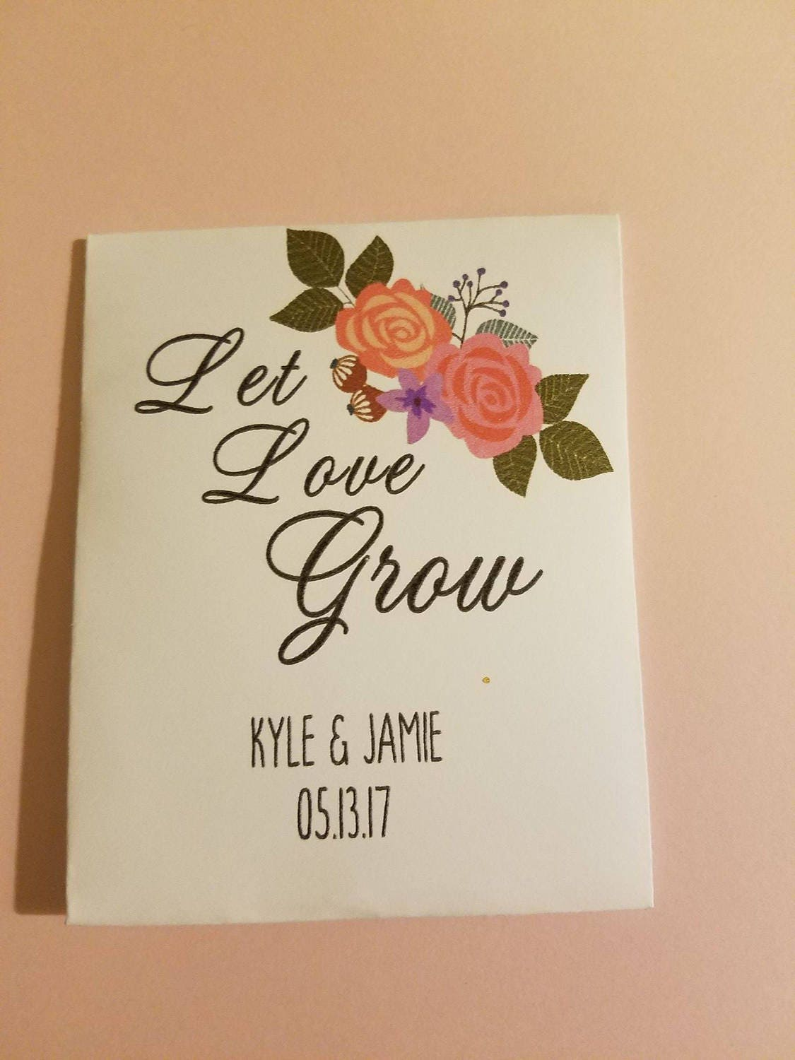 let love grow, wedding favors, seed packet favors,custom seed ...