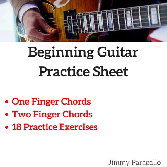 Beginning Guitar First Chords Practice Exercises