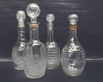 Vintage barware - 4 vintage decanters