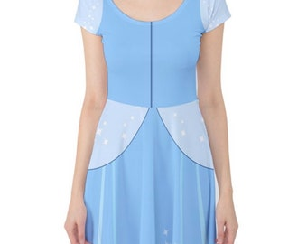 Made to Order (Ships in 4 weeks)  Cinderella Ball Gown Cap Sleeve Dress