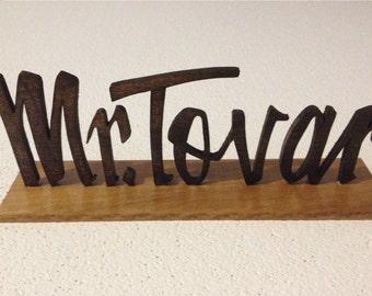 Custom Desk Name Plate                       Custom Script Name                              Desk Name Plate     Wood Name