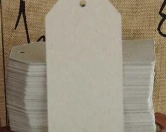 "100 Die Cut Classic Kraft Blank Tags 1-1/2"" x 3"""