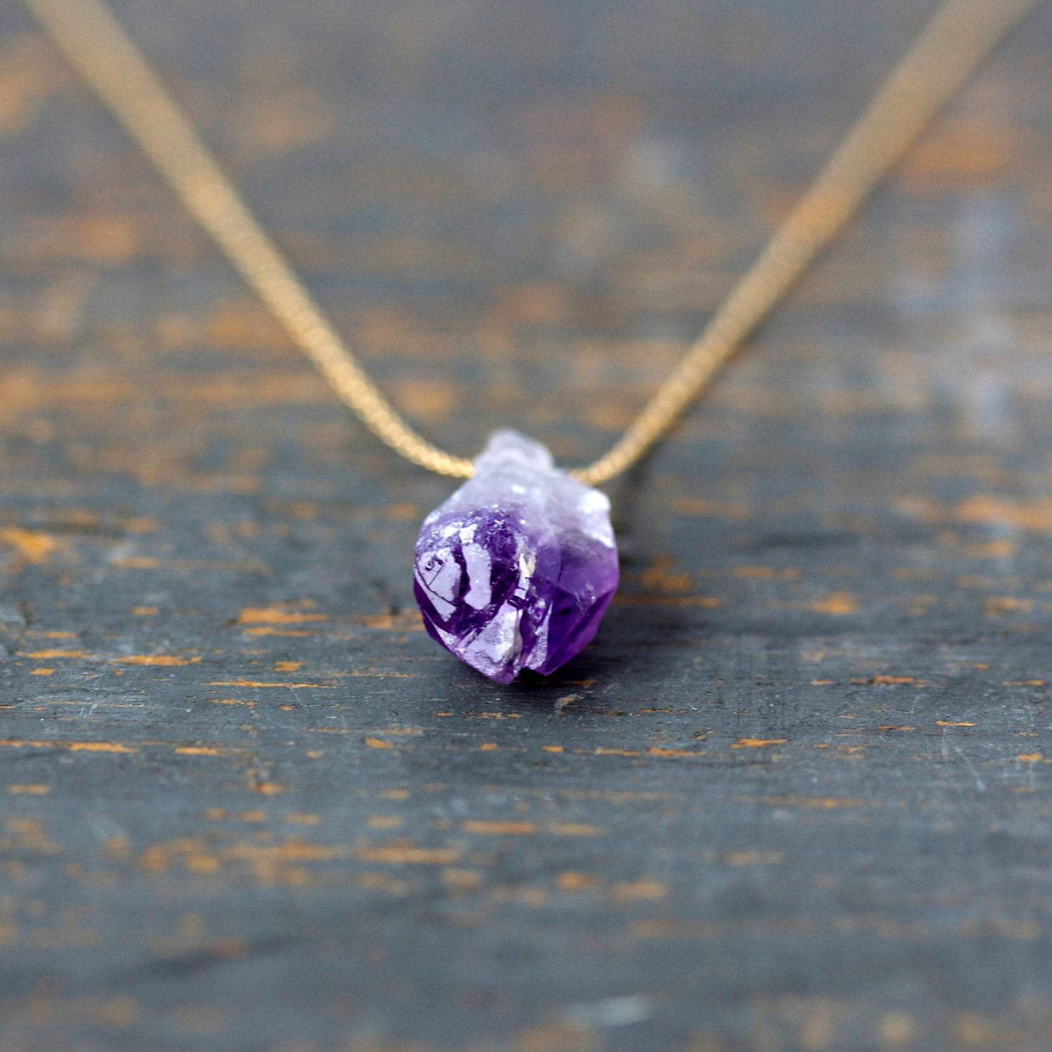 amethyst crystal necklace gold dipped druzy natural raw jewelry pendant necklaces