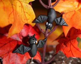 Miniature Bats (2pc) ~Polymer clay