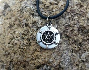 Ship Wheel Necklace Ship Wheel Jewelry Nautical Jewelry Mens Necklace Mens Gift Mens Jewelry Teen Boy Gift Trending Jewelry Ocean Jewelry