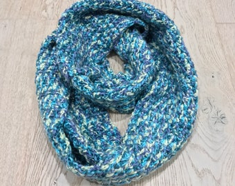 Crochet infinity scarf   ready to ship
