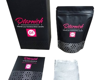 Dtarnish- Jewelry Cleaning Kit for Silver Tarnish Remover for Silver Jewelry Polish Silver, Silver Jewelry Cleaner