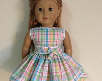 """Gymboree Happy Rainbow Dress Reconstructed to fit 18"""" American Girl Doll"""