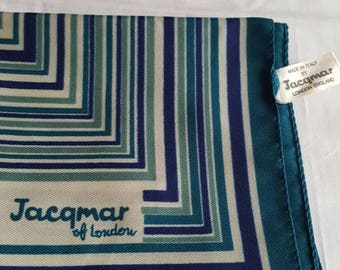 Vintage jacqmar polyester scarf 19inch square
