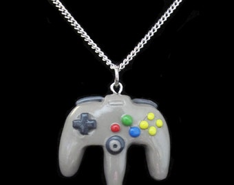 N64 Create Your Own Nintendo 64 Controller Retro Video Game Necklace