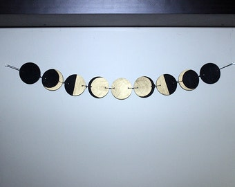 celestial phases of the moon garland