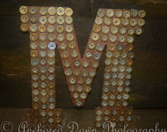Personalized Shotgun Shell Letter