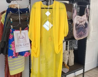 Yellow Cover up| Soleil Cover ups | Style B. 2 | SALE!