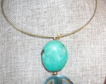 Turquoise and Enamel Pendent