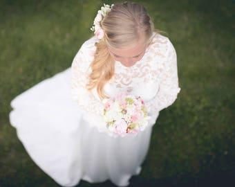 Bridal bouquet Katharina Romantic Biedermeier in soft pink