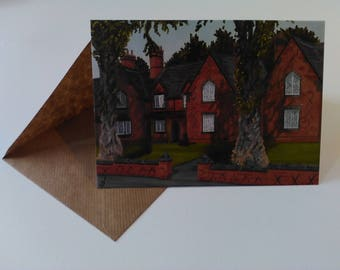 The Almshouses - Greeting Card with Envelope in Cellophane Wrapping