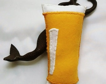 Beer Cat Toy, Catnip Beer Toys, Felt Cat Toys, Pet Toy