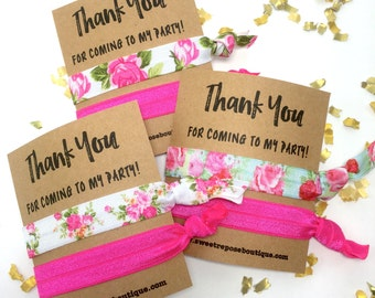 Birthday Party Favors | Girls Birthday Favors | Hair Ties | Thank You Favors | Party Ideas | Party Supplies | Hair Tie Party Favor | Favors