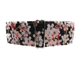 Cherry Blossom Martingale Collar, 2 inch Martingale Collar, Windhunde, Cherry Blossom Dog Collar, Custom Dog Collars, Wide Dog Collar