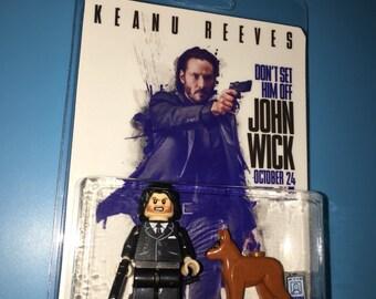 JOHN WICK & DAISY Custom 2 Pack Movie Hitman Minifigure