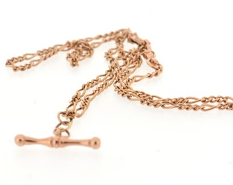 An Albert, Figaro-link chain, lobster clasp, necklace