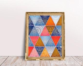 boho printable wall art Moroccan tiles, boho decor, Moroccan decor, Moroccan pattern, middle eastern decor, bohemian printable poster