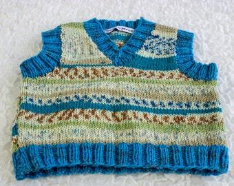KNITTING PATTERN, Baby Vest Knitting PDF, Baby Vest Knitting Pattern,Easy Baby Vest Pattern