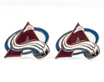 Colorado Avalanche Cuff Links -- FREE SHIPPING with USPS First Class Domestic Mail