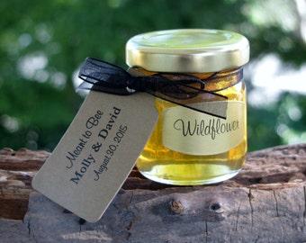 Set of 24 - 2 Oz Honey Jars Favors, Honey Wedding Favor, Bridal Shower Favors, Baby Shower Favors, Honey Favors, Honey, Bee