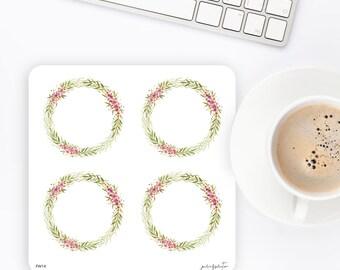 FW14 | Flower Wreath Sticker | Decorative Sticker | Planner Stickers | Bullet Journal Stickers