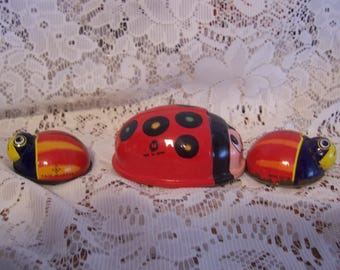 Two Friction Lady Bugs and a Wind-Up Lady Bug, Japan