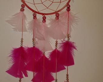 red hot pink dream catcher