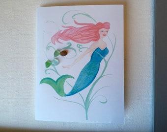 Sea glass cards
