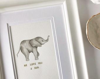 Baby Elephant Art, Elephant Nursery, Elephant Painting, Baby Animal Nursery