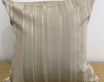 "SALE!......Striped Brown Taupe Cushion Cover Throw Pillow. 18"" (45cm) . Cushion Covers Made Australia"