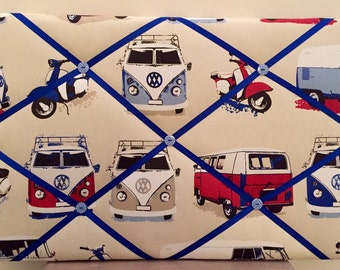 VW Camper Van and Scooter Fabric Notice Board
