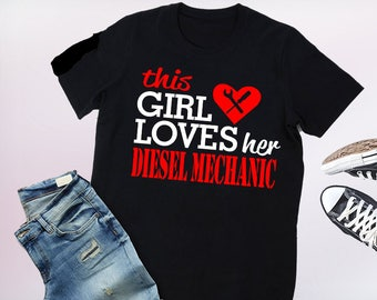 diesel mechanic wife shirt, diesel mechanic wife, diesel mechanic wife gift, proud diesel mechanic wife, diesel mechanic girlfriend