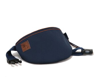 Fanny pack hip bag waist purse plain navy