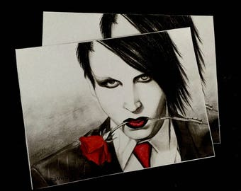 Marilyn manson etsy marilyn manson mini print bookmarktalkfo Images