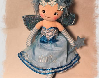 Personalized Embroidered Fairy Rag Doll