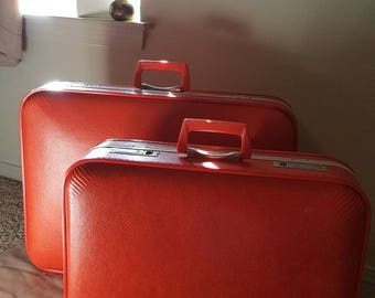 Vintage Hard Shell Luggage Set by Trojan